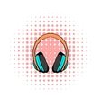 Big headphones comics icon vector image vector image