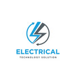 bolt storm electric logo icon with 360 motion vector image