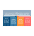 business process chart with 4 steps options vector image