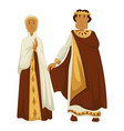 byzantium emperor and empress crown and shawl vector image vector image