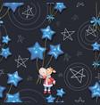 calf 2021 holiday bull santa claus new year vector image vector image