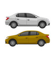 car modern sedan side view vector image
