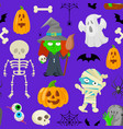 characters for halloween vector image vector image