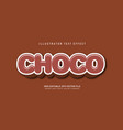 choco text effect vector image vector image