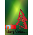 Christmas tree gift cards vector image vector image
