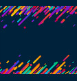 colorful abstract background on blue vector image vector image