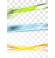Colorful abstract stripes design vector image vector image