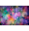 colourful magic light abstract bokeh background vector image vector image