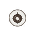 compass icon sticker adventure symbol and patch vector image vector image