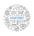 content circular concept thin line vector image vector image