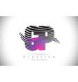cp c p zebra texture letter logo design vector image vector image
