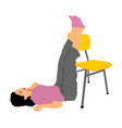 drunk school girl overdose unconscious first aid vector image vector image