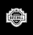 emblem baseball tournament with vintage texture vector image vector image