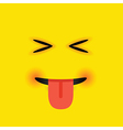 eyes closed tongue out square emoji vector image vector image