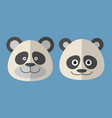 faces of panda vector image vector image