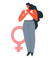 feminism and empowerment movement for rights vector image