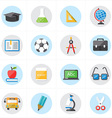 Flat Icons For Education Icons and School Icons vector image vector image