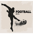 football player kick a ball image vector image vector image