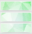 Green crystal pattern dot header set layout vector image