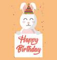 happy easter rabbit vector image
