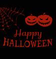 happy halloween evil pumpkins vector image vector image