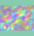 iridescent geometric background vector image vector image