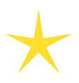 Isolated yellow star icon ranking mark