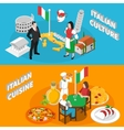 Italy Tourism 2 Isometric Banners Poster vector image