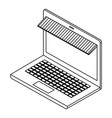 laptop computer with parasol isometric vector image vector image