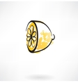 lemon grunge icon vector image vector image