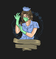 medical officer graphic vector image