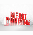 merry christmas background concept vector image vector image