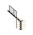 minimalistic modern staircase vector image