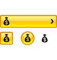 Money button set vector image