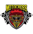 motocross racing skull helmet vector image vector image
