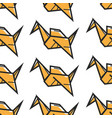 origami oriental art seamless pattern paper vector image vector image