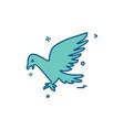pigeon icon design vector image vector image