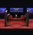 presidential debate vector image