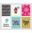 Romantic cards collection vector image vector image