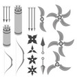 rpg weapons - projectiles vector image
