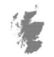 scotland map halftone icon vector image
