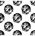 seamless pattern eraldic lions with shaggy mane vector image