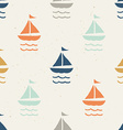 Seamless pattern ships vector image