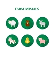Set of flat design isolated icons with farm vector image vector image