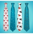 set of neckties vector image vector image