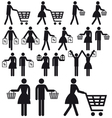 Shopping people icon set vector | Price: 1 Credit (USD $1)