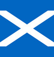 simple flag of scotland vector image