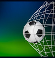 soccer game match goal football ball in the net vector image