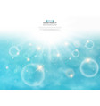 summer of sun burst on soft light with blue sky vector image vector image