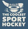 t shirt design coolest sport hockey vector image vector image